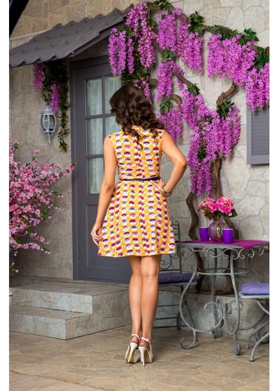 Платье летнее приталенное желтое