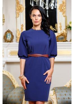 Платье элегантное синего цвета