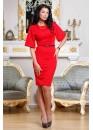 Платье элегантное красного цвета