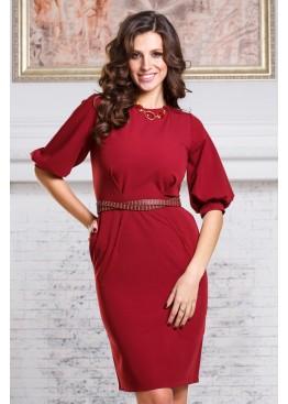 Платье элегантное бордовое