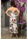 Платье летнее длинное с цветочным принтом белое