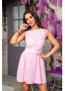 Платье летнее хлопковое нежно розового цвета