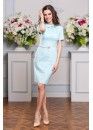 Платье летнее классическое приталенное нежно голубое