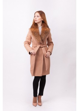 1e92d134866 Купить зимнее женские пальто с меховым воротником 2018-2019 в ...