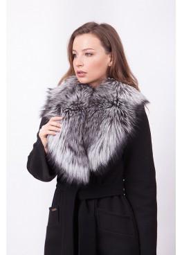 Пальто зимнее Винруж с мехом чернобурой лисицы