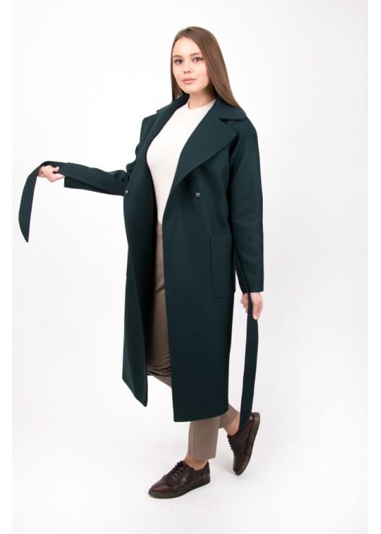 Пальто демисезонное Агата изумруд