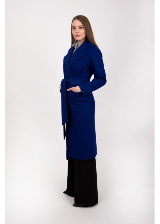 Пальто демисезонное Агата ультрамарин