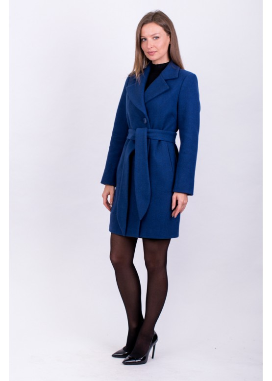 Пальто демисезонное Аврора синий заказать в Москве