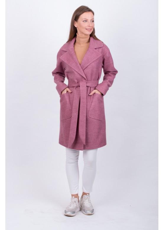 Пальто демисезонное Брайна розовый заказать в Москве