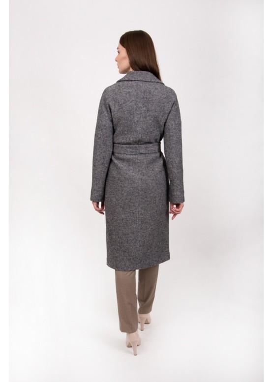 Пальто демисезонное Женева Темно серое