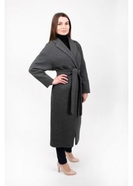 Пальто демисезонное Прованс серое вязаное