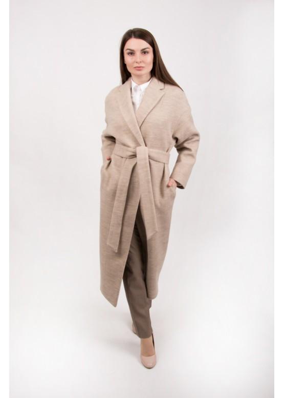 Пальто демисезонное Прованс беж вязаное