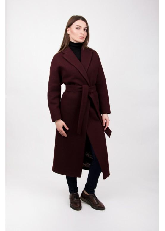 Пальто демисезонное Прованс бордо вязаное
