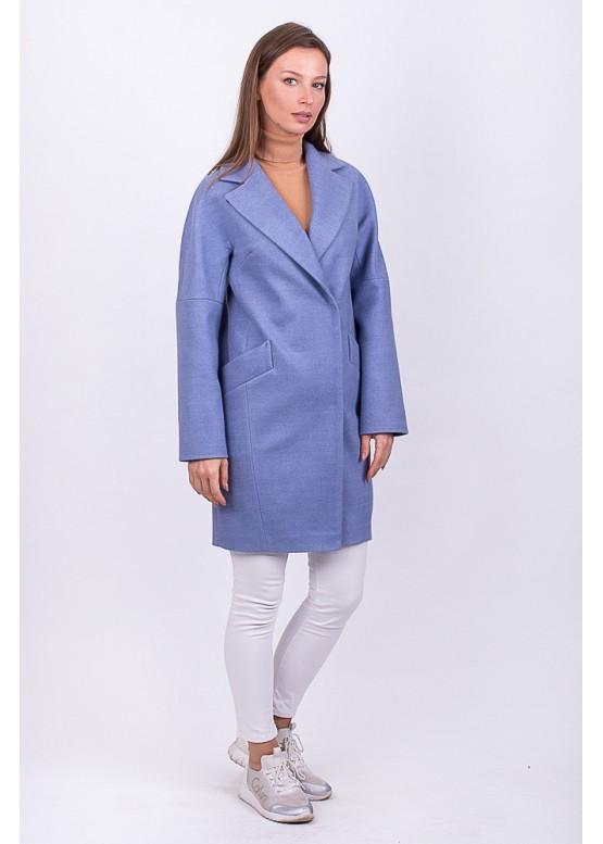 Пальто демисезонное Риана голубое заказать в Москве