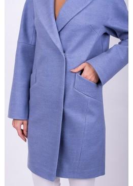 Пальто демисезонное Риана голубое
