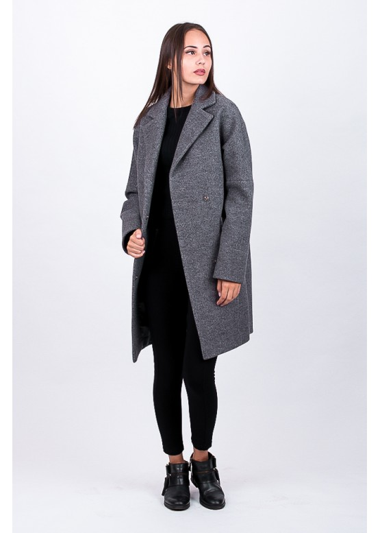 Пальто демисезонное Риана Серое заказать в Москве