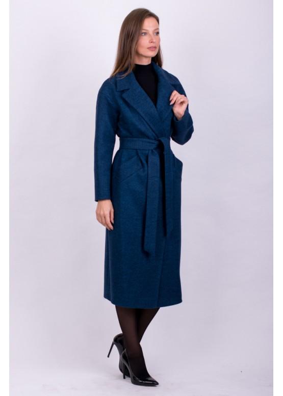 Пальто демисезонное Велла синий заказать в Москве