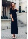 Платье-рубашка удлиненное черного цвета