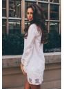 Платье белое короткое из натурального хлопка