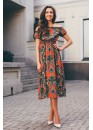 Платье-сарафан летнее с завышенной талией и открытыми плечами красное