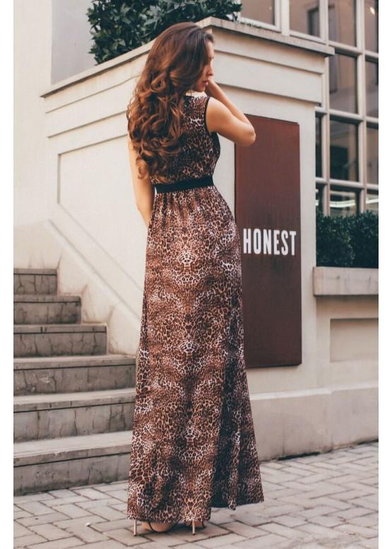 Платье-сарафан летнее в пол с завышенной талией