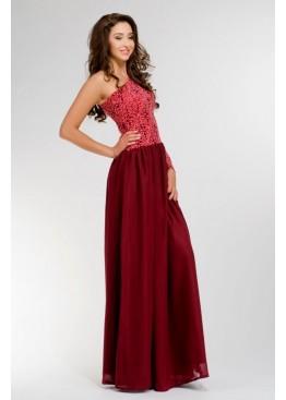 Платье вечернее длинное необычного кроя