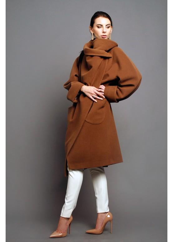 Пальто демисезонное Карим терракот