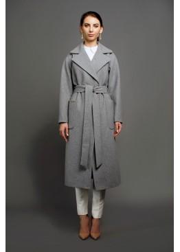 Пальто демисезонное Агата Серое