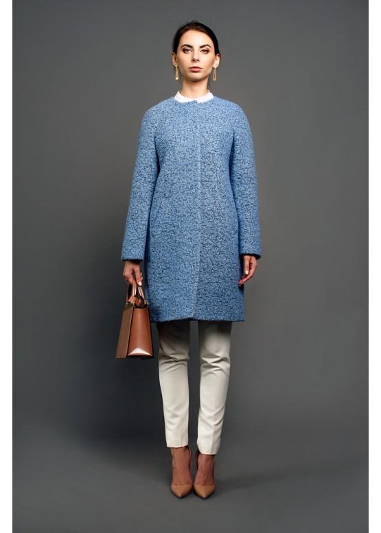 Пальто демисезонное Доменика голубой