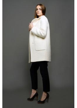 Пальто демисезонное Грида Белое
