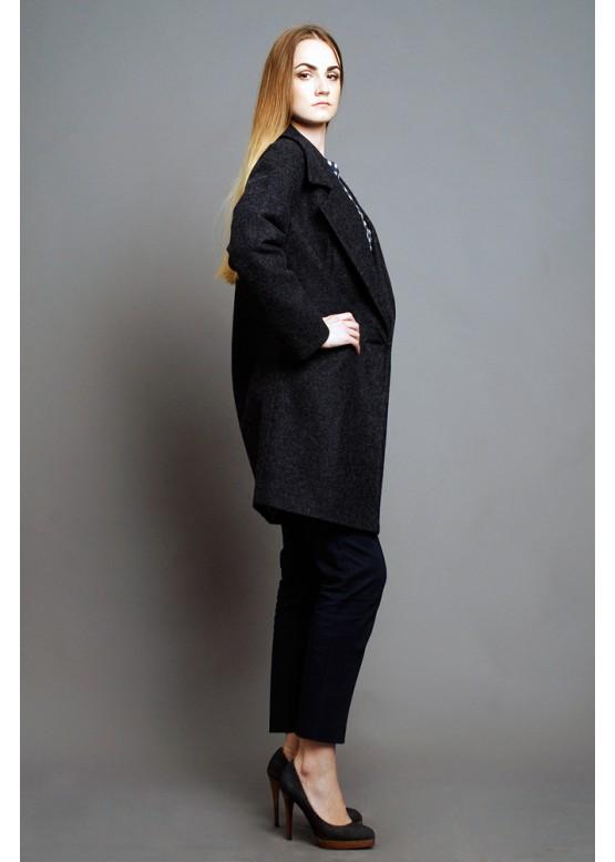 Пальто демисезонное Каиса Серый (мокрый асфальт)