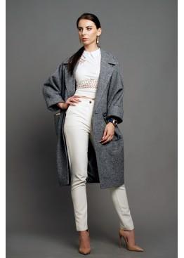 Пальто демисезонное Кэрри Серое Светлое