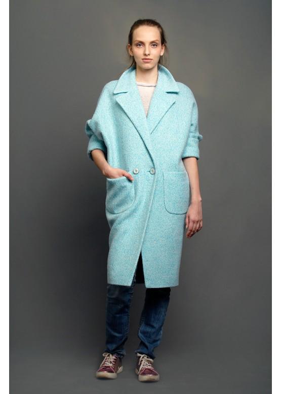 Пальто демисезонное Кэрри бирюза