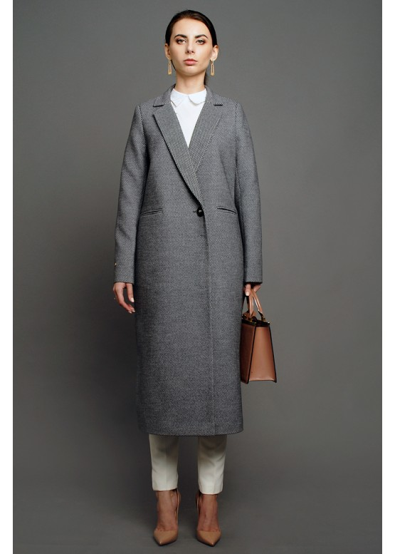 Пальто демисезонное Марна Серое