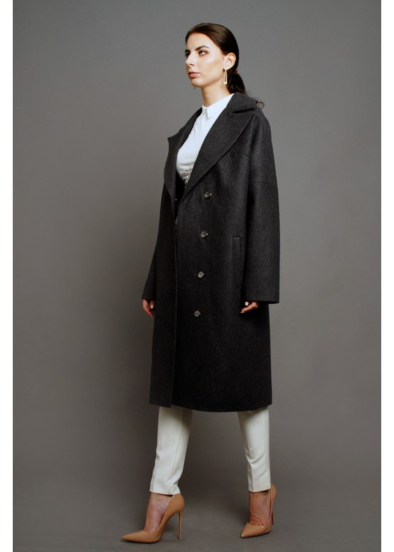 Пальто демисезонное Ода Серое (мокрый асфальт)