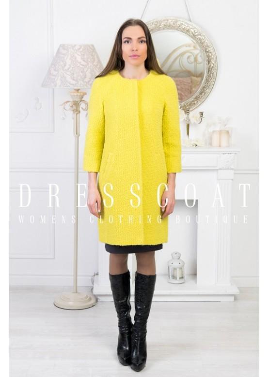 Пальто демисезонное Джаннет yellow
