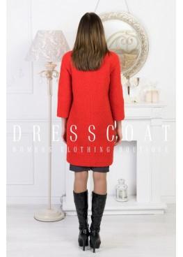 Пальто демисезонное Джаннет red