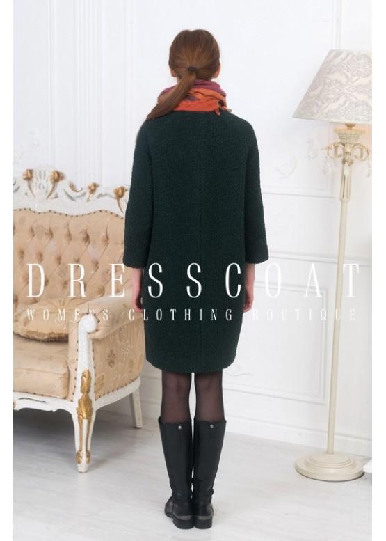 Пальто демисезонное Джаннет dark green
