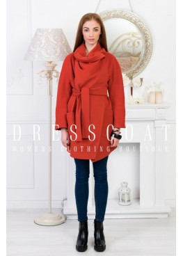 Пальто демисезонное Стефани terracot