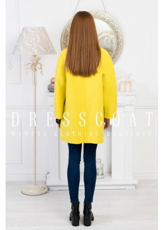 Пальто демисезонное Стефани yellow