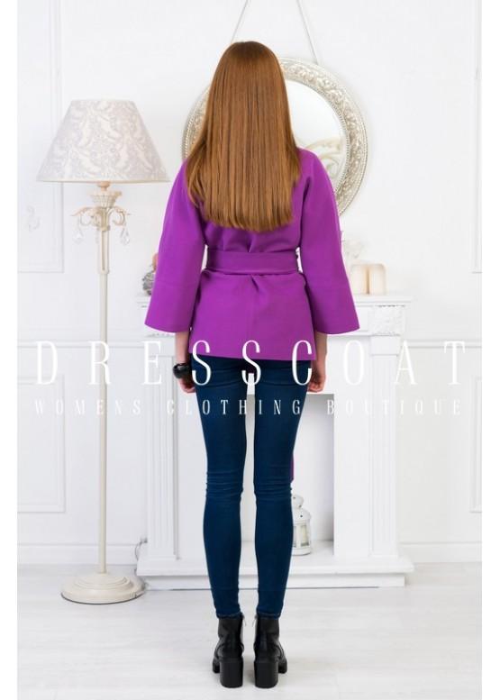 Пальто демисезонное Виолет Сирень