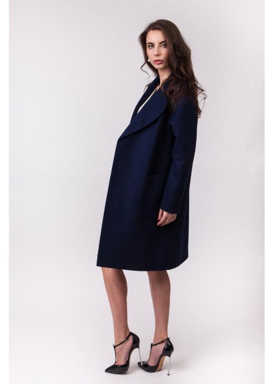 Пальто демисезонное Бриджит New Темно синий