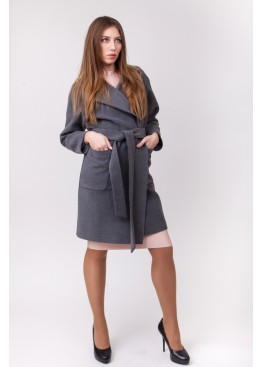Пальто демисезонное Бриджит New Серый