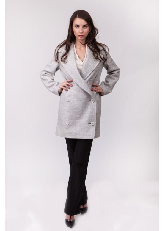 Пальто демисезонное Дорен Серое