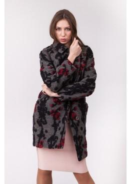 Пальто демисезонное Каиса Красный цветок