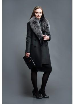 Пальто зимнее Велия Серое