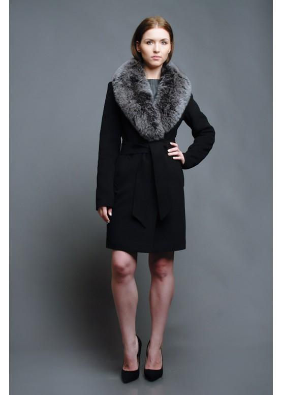 Пальто зимнее Черный Бархат New