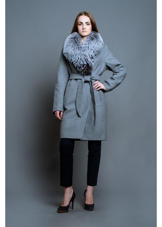 Зимнее женское пальто Серый Бархат купить в Москве 49872d93e42