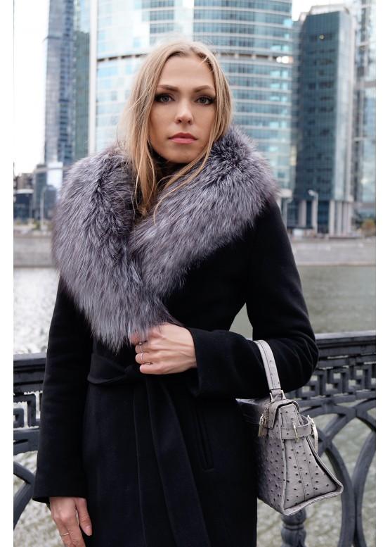 Пальто зимнее Черный Бархат