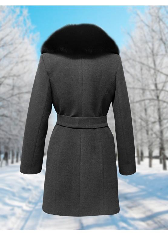 Пальто зимнее Дарси Темно-Серое Black